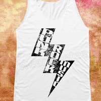 Bolt Punk Rock Shirts Music Tank White Shirts Vest Tank Top Women Shirts Women Tops Unisex Shirts Women Sleeveless Shirts