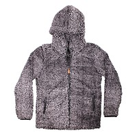 Hooded Sherpa Pullover in Steel by Simply Southern