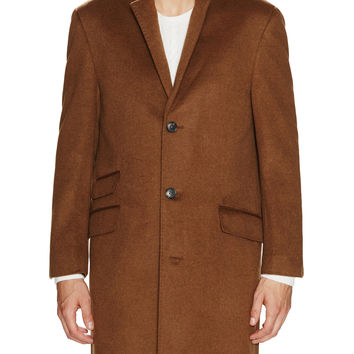 Hart Schaffner Marx Men's Shelby Wool Cashmere Coat - Brown -