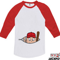 Baseball Pregnancy Announcement Shirt Pregnancy Reveal T Shirt Gifts For Expecting Mothers Baseball Tee American Apparel Raglan MD-652