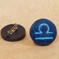 Libra Pinback Button, Zodiac Pin, Zodiac Button, Libra Button, Libra Pin, Zodiac Symbols, Constellation Pin, Astrology Pin, Astronomy Pin