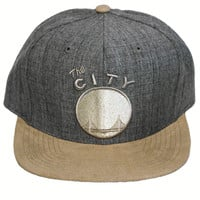 San Francisco Warriors Heather Suede 2-Tone Strapback