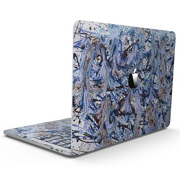 Abstract Wet Paint Blues - MacBook Pro with Touch Bar Skin Kit
