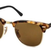 Kalete New Unisex Sunglasses Ray-Ban RB3016 Clubmaster Fleck 1160 51