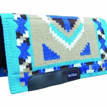 Bar H Equine Western Saddle Pad Air Foam Barrel Turquoise SB417FSAF