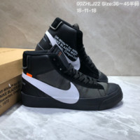 HCXX N655 Off White x Nike Blazer Mid All Hallows Eve Skate Shoes Black