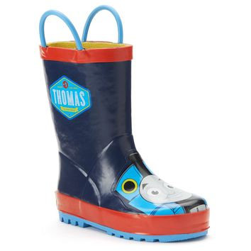 Western Chief Thomas the Tank Engine Toddler Boys' Rain Boots (Blue)