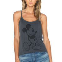 Junk Food Mickey Mouse Tank in Jet Black