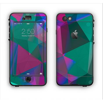 The Raised Colorful Geometric Pattern V6 Apple iPhone 6 LifeProof Nuud Case Skin Set