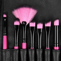 Ovonni® 22-Piece Pro Beauty Makeup Cosmetic Brush Set with Case