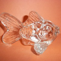 Retired Goebel Kristallglas (Crystal) Goldfish Seashore Collection 1982