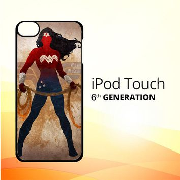 WONDER WOMAN silhouette Y0546 iPod Touch 6 Case