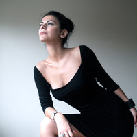 Dress with Scoop Neckline the Perfect LBD with by marcellamoda