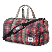 Herschel Supply Co.: Novel Duffle Bag - Red Plaid / Polka Dot