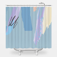 Boxed Courtship Shower Curtain
