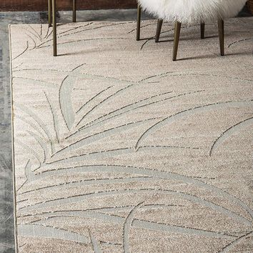 7182 Beige Abstract Outdoor-Indoor Contemporary Area Rugs