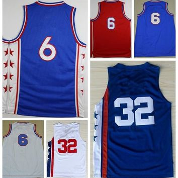 2016 Basketball Shirts #6 Uniforms Throwback New Rev 30 Men Classical Sport Jerseys #32 Basket ball Sportswear With Player Name Team Logo