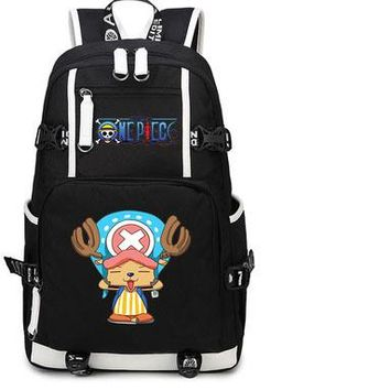 Anime Backpack School One Piece Backpack kawaii cute Luffy zoro Cosplay Nylon School Bag Travel Bags AT_60_4