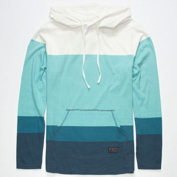 Rip Curl Next Step Mens Lightweight Hoodie Teal Blue  In Sizes
