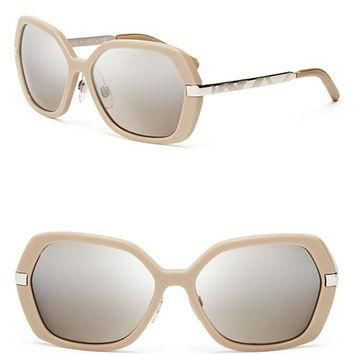 Burberry Mirrored Oversized Sunglasses