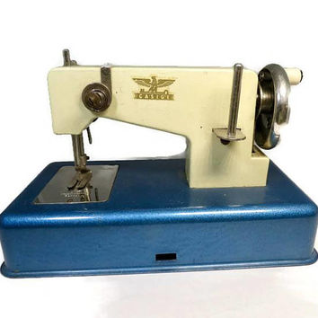 Vintage Toy Sewing Machine - Retro Childs Toy, Antique Miniature Sewing Collectible, Casige Western Germany, Sewing Room Decor