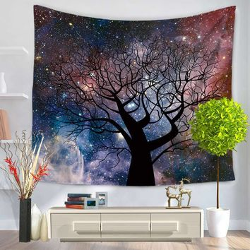 Stars Indian Mandala Tapestry Wall Hanging 150*200cmTapestries Hippie Boho Bedspread Yoga Mat Blanket Table Cloth Beach Towel