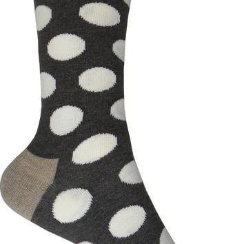 Big Dot Crew Socks in Dark Brown