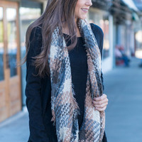 The Coffee House Infinity Scarf, Taupe