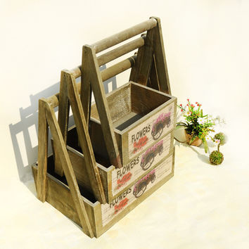 Wooden Pastoral Style Home Storage Box [6282956102]