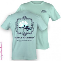 Simply Southern Cotton Tee- Seafoam