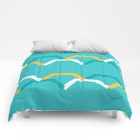 Teal Steps Comforters by spaceandlines
