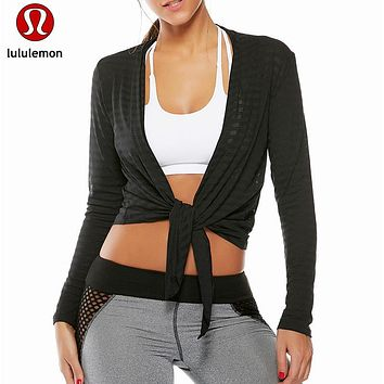 Lululemon Yoga Breathable Smock Gym Sports Tops