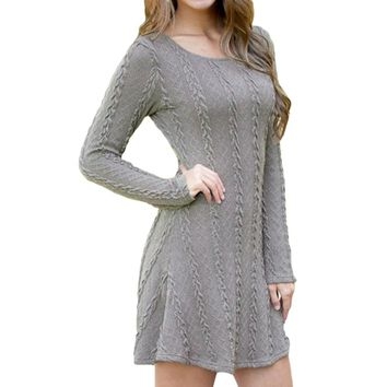 Women Causal Dress Plus Size S-5XL Sweater Dress