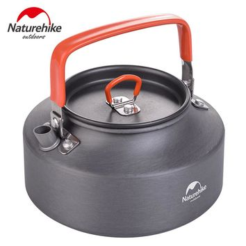 Naturehike 1.1L Aluminum Tea Pot For Camping Hiking Fishing Outdoor Ultralight Coffee Pots With Handle Boiling Water Kelttle