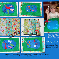 Travel Roll-Up Fishing Pond Play Mat