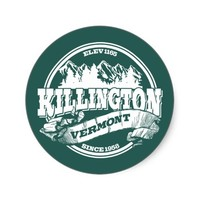 Killington Old Circle White Stickers