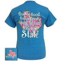 Girlie Girl Originals Preppy God Is Good Lone Stare State Texas T-Shirt