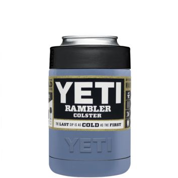 Custom Designed YETI Periwinkle Grey Colster Can Cooler & Bottle Insulator