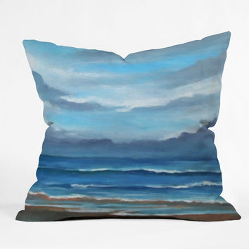 Rosie Brown Here Comes The Rain Throw Pillow