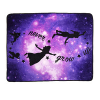 Disney Peter Pan Never Grow Old Throw Blanket