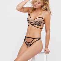 Free People Heliotrope Applique Thong