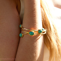 Queen Of The Nile Turquoise Bangle Set - Turquoise