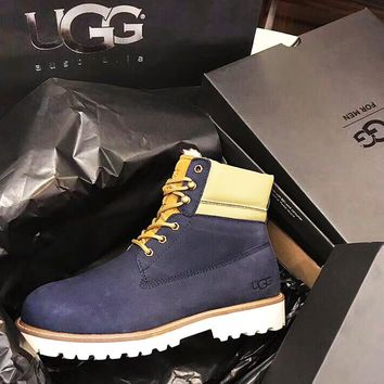 UGG 2018 winter new plus velvet warm men's anti-skiing boots
