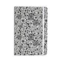 """Julia Grifol """"Candy Flowers In Black"""" Gray White Everything Notebook"""