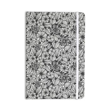 "Julia Grifol ""Candy Flowers In Black"" Gray White Everything Notebook"