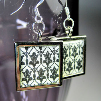 221B Wallpaper / Sherlock Inspired Earrings