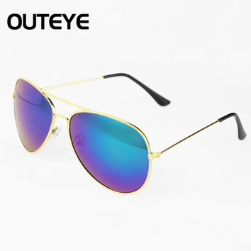 Outeye Brand Unisex Retro Vintage Womens Men Mirrored Len s Sunglasses Christmas Holiday Sun Glasses A2