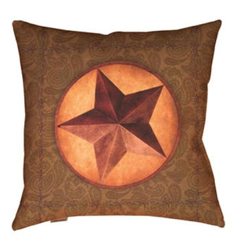 Western Star Throw Pillow - Uv Treated And Weatherproof