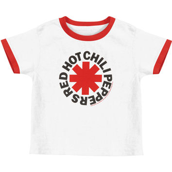 Red Hot Chili Peppers Boys' Asterisk Logo Toddler Tee Childrens T-shirt White