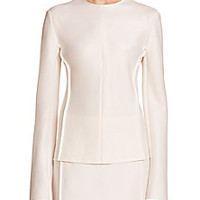 The Row - Toce Seamed Blouse - Saks Fifth Avenue Mobile